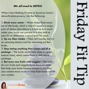 Friday Fit Tip Deborah Enos One Minute Wellness Detox