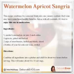 Watermelon Apricot Sangria Deborah Enos Summer Cocktail Recipe
