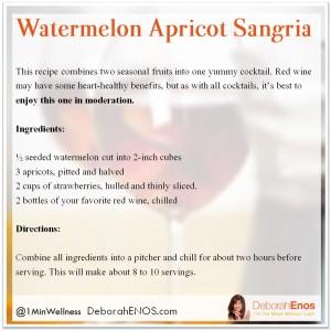 Watermelon Apricot Sangria Deborah Enos Summer Cocktail Recipe