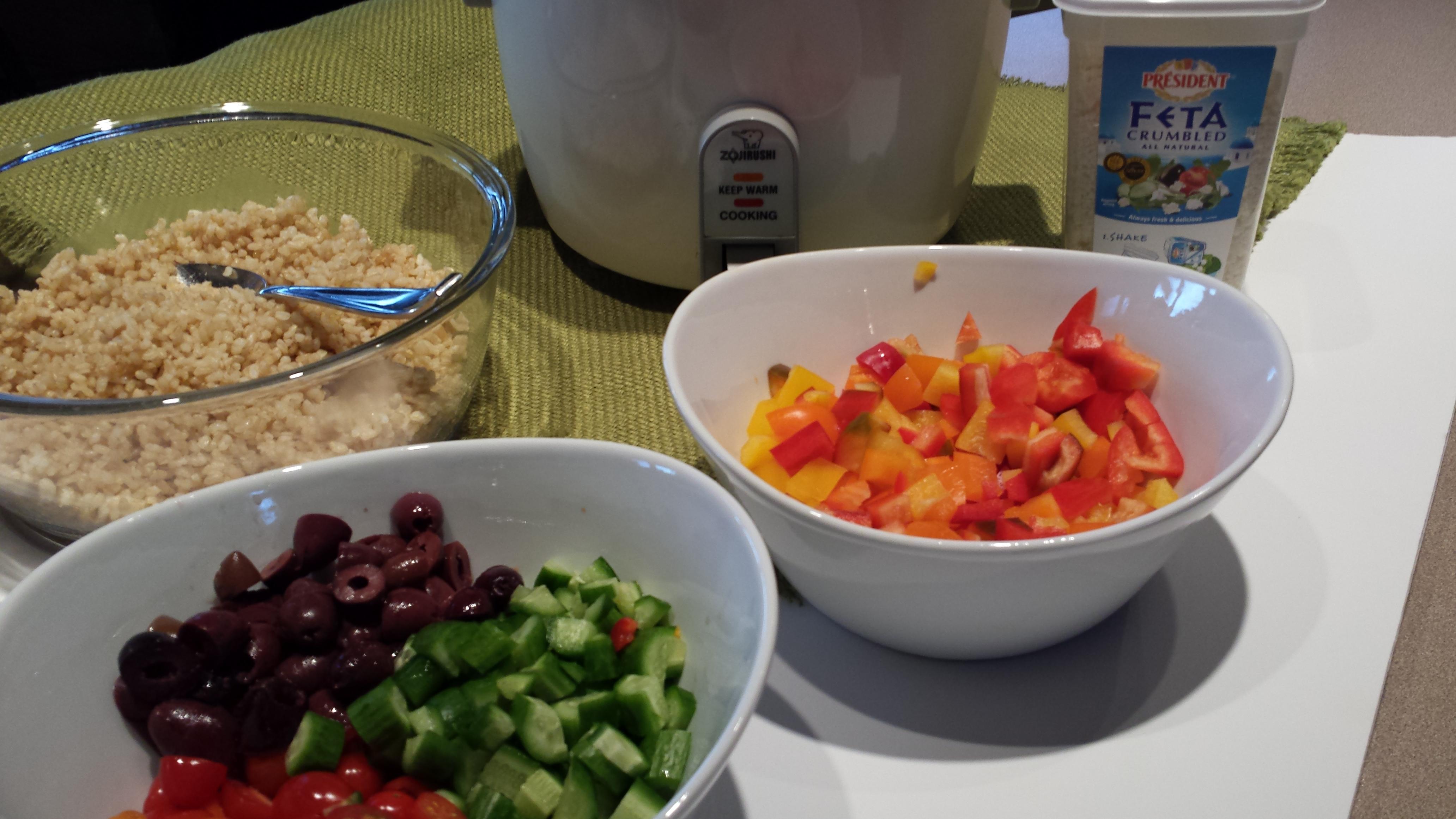 Deborah Enos's 10 Minute Dinners Greek Brown Rice Salad