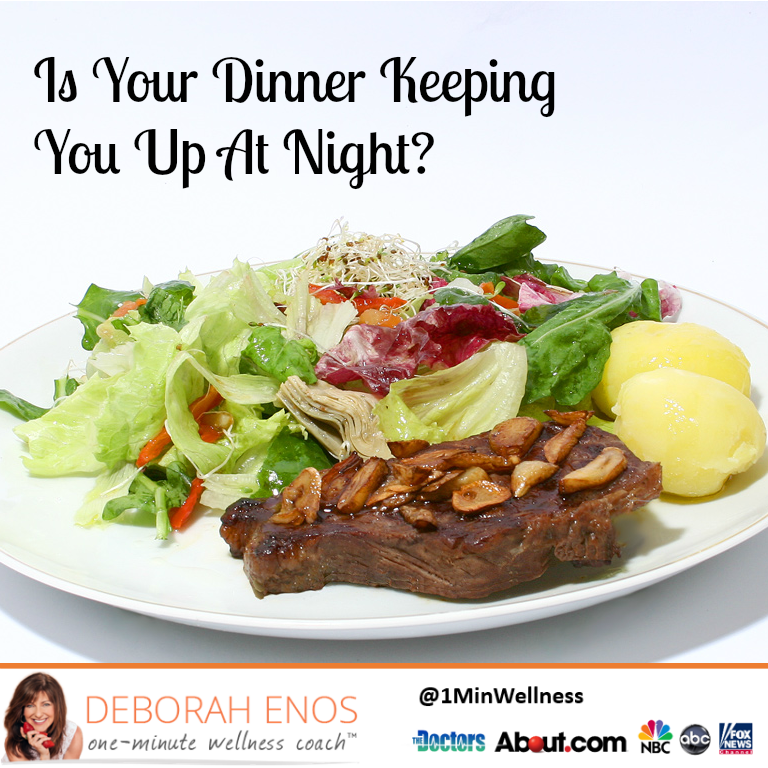 Deborah Enos Is Your Dinner Keeping You Up At Night