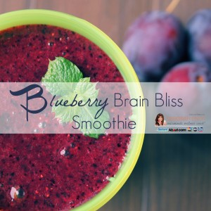 Blueberry brain bliss smoothie deborah enos